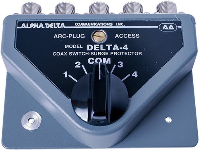 AlphaDelta Antennenschalter 4 x PL-Buchse