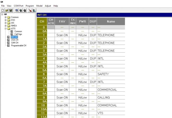 Umprogrammierung Icom Seefunk